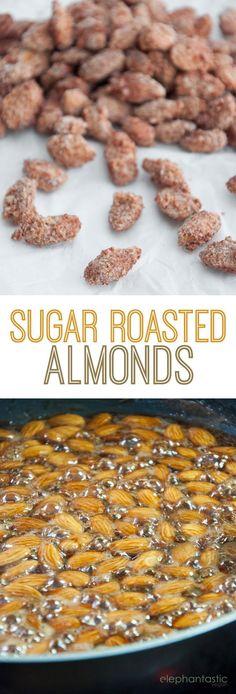 Sugar Roasted Almonds | http://ElephantasticVegan.com