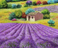 """""""Lavender hill"""" 55x46 cm  Janiaczyk Jean-Marc"""