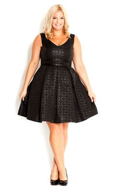 Little Black Dress Plus Size Dress - City Chic Vestidos Plus Size, Plus Size Dresses, Plus Size Outfits, Curvy Girl Fashion, Look Fashion, Plus Size Fashion, Look Plus Size, Plus Size Women, Moda Xl