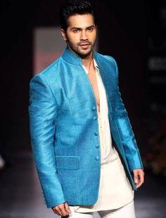 Varun Dhawan in blue