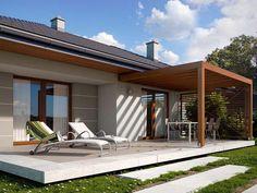 Pergola For Small Backyard Pergola Carport, Wood Pergola, Pergola With Roof, Backyard Pergola, Pergola Plans, Backyard Landscaping, Pergola Ideas, Outdoor Living Rooms, Outdoor Spaces