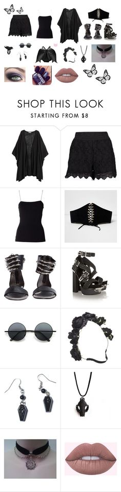 """""""Summer look."""" by goth-dark-hobbit on Polyvore featuring moda, Boohoo, T By Alexander Wang, River Island, Versace, The Rogue + The Wolf, Retrò, Sourpuss y Charm & Chain"""