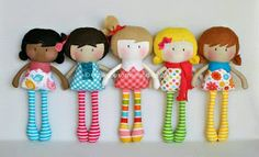 The Home of My Teeny-Tiny Dolls® - Handmade Fashion Dolls Tiny Dolls, New Dolls, Soft Dolls, Cute Dolls, Barbie Dolls, Operation Christmas Child, Fabric Toys, Fabric Crafts, Sewing Dolls