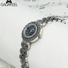 GAGAFEEL 2017 Women's Bracelet Watches 925 Sliver Quartz Watches for Woman Female Dress Wristwatch Clock Hour