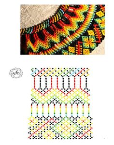 Natali Khovalko #bisuteria #bisuterias #bisuteriafina #colombia #colombiabisuteria Diy Necklace Patterns, Bead Loom Patterns, Beaded Jewelry Patterns, Beading Patterns, Beading Projects, Beading Tutorials, Beaded Crafts, Beaded Collar, Bead Jewellery