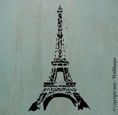 Eiffel Tower Stencil 10 x 58 by WallMasqueStencilCo on Etsy, $18.75