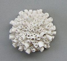 Porcelain Flower Bud Bouquet Wall Sculpture