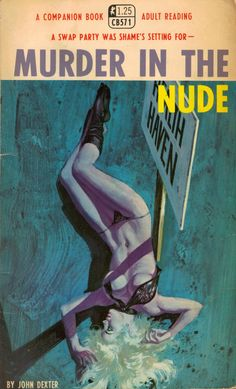 MURDER IN THE NUDE | vintage pulp fiction hardboiled pulp cover art