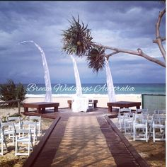 Wedding ceremony of Craig & Kathryn 18/10/2014 Currumbin Beach #currumbinbeachwedding #goldcoastwedding #beachwedding #balistylewedding Styling by www.breezeweddings.com.au #breezeweddingsaustralia