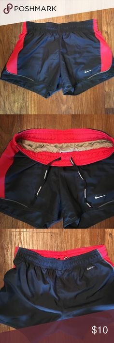 Nike dry-fit running shorts Nike dry-fit running shorts size XS with built-in underwear. Worn twice Nike Shorts