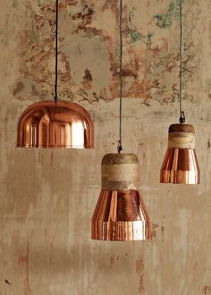 Luminaire : l'esprit des lumières - All For House İdeas Cool Lighting, Lighting Design, Copper Interior, Color Cobre, Lamp Design, Design Design, Pendant Lamp, Pendant Lights, Lamp Light
