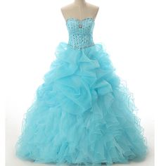Handmade Blue Quinceanera Dresses,Ball Gowns Sweetheart Crystals Blue