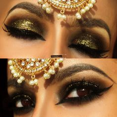 Envy+green+with+gold+glitter+Arabic+makeup+https://www.makeupbee.com/look.php?look_id=93072