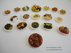 Middle East food selection
