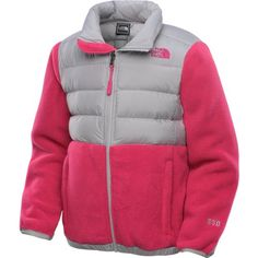 North Face Denali Down Girls Jacket Razzle Pink L