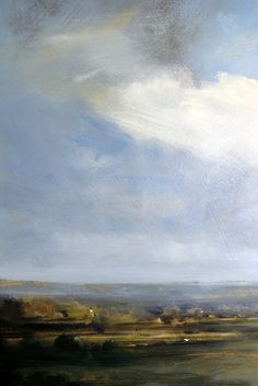 Zarina Stewart-Clark is a Scottish landscape artist whose paintings depict landscapes around the West Coast of Scotland and Suffolk. Her paintings are concerned with the changing light on land, sea and sky. Abstract Landscape, Landscape Paintings, Abstract Art, Art Paintings, Scotland Landscape, West Coast Scotland, Art Folder, Sky Painting, Blue Clouds