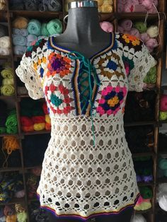 Fabulous Crochet a Little Black Crochet Dress Ideas. Georgeous Crochet a Little Black Crochet Dress Ideas. Hippie Crochet, Love Crochet, Crochet Granny, Vintage Crochet, Crochet Stitches, Crochet Baby, Knit Crochet, Crochet Designs, Crochet Patterns