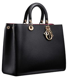 Elegant Black Leather Handbag