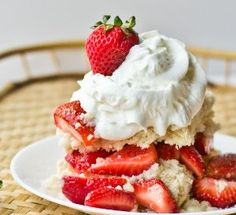 Authentic Amish Strawberry Shortcake - This strawberry shortcake recipe is the perfect thing to prepare for an after-dinner treat, but it also makes great leftovers to enjoy in the morning for breakfast, believe it or not! Serve it up with some fresh whipped cream and strawberries and you'll have yourself a little piece of heave on a plate!