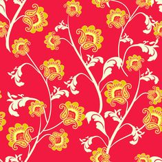 'Red Avignon Vines' designed by Emily Taylor for Riley Blake Designs