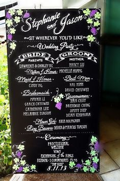Wedding Program chalkboard wedding program sign - Hi, loves! Are you having a ceremony program at your wedding? If so, don't miss today's post: we're sharing some common wedding program mistakes to avoid. A wedding program is are… Wedding Reception Food, Wedding Ceremony Programs, Wedding Signage, Pallet Wedding, Diy Wedding, Dream Wedding, Wedding Ideas, Rustic Wedding, Spring Wedding
