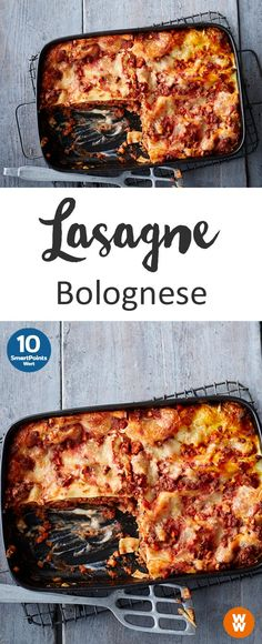 Lasagna Bolognese, main course, dinner, lunch Weight watchers Healthful healthy eating plan is to accept Weight Watchers Lasagna, Plats Weight Watchers, Lasagna Bolognese, Bolognese Recipe, Vegetarian Bolognese, Healthy Recipes For Weight Loss, Easy Healthy Recipes, Healthy Meals, Law Carb