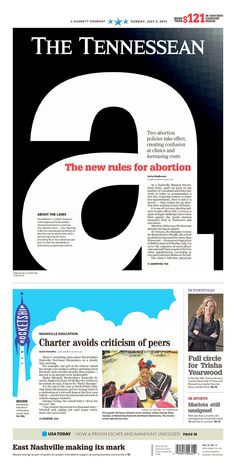 The Tennessean for July 5, 2015, via Today's Front Pages | Newseum #newsdesign #newspapers