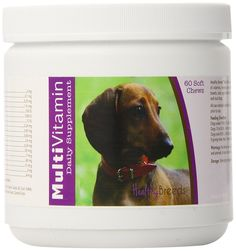 Healthy Breeds Multi-Vitamin Soft Chews,  Dachshund  / 60 Count -- Click image to review more details. (This is an affiliate link) #DogSupplementsandVitamins