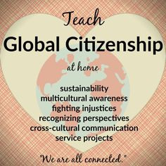 Global Citizenship at Home Tips