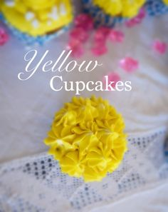 Kill Them With Chic Yellow cupcakes - Kill Them With Chic
