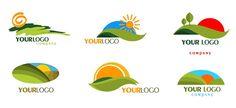 Green Mountain Logo Templates with Rising Sun - Free Logo Design Templates Free Logo Psd, Free Logo Templates, Logo Design Template, Vector Free, Berg Logos, Monument Signage, Sun Logo, Mountain Logos, Logo Google