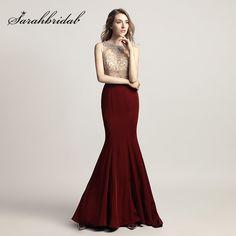Cheap Shining Beading Rhinestone Bodice Long Mermaid Prom Dresses with Bow  Sashes Satin 2018 Evening Party e26e4ee63b0a