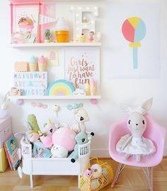 Διακόσμηση παιδικού δωματίου με θέμα το παγωτό🍦 @mini_kubo circus bulb print gives a summery feeling.