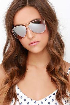 Quay Vivienne - Gold Sunglasses - Aviator Sunglasses - $50.00