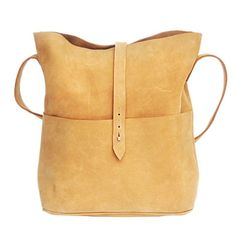 Tan nubuck leather messenger