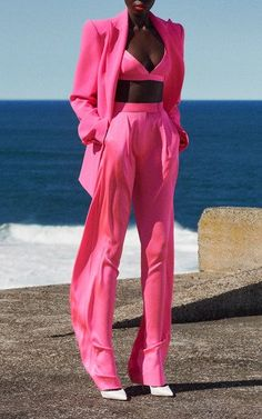 Pink Outfits, Chic Outfits, Fashion Outfits, Fashion Trends, Look Fashion, High Fashion, Womens Fashion, Fashion Design, Barbie Mode