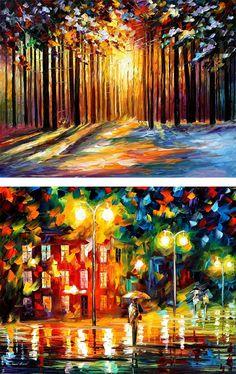 Palette Knife Paintings by Leonid Afremov | Inspiration Grid | Design Inspiration