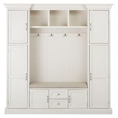 Hallway storage Cabinet - Home Decorators Collection Royce Polar White 79 25 Hall Tree. Entryway Storage Cabinet, Locker Storage, Mudroom Storage Ideas, Shoe Storage, Storage Benches, Cubby Storage, Mudroom Benches, Garage Entryway, Entryway Hall Tree