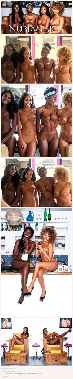 I LOVE THE SHADES OF BLACK SKIN.... Nubian Skin Lingerie | nubianskin.com