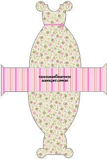 Provençal Rosa Floral – Kit Completo com molduras para convites, rótulos para guloseimas, lembrancinhas e imagens!  Fazendo a Nossa Festa
