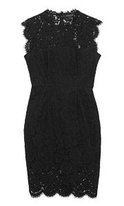 Modern, romantic lace is a total YES for any occasion. Rachel Zoe Black Lace Suzette Mini Dress, $395