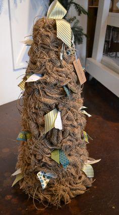 Burlap tree with fabric ties at Urban Farmhouse Market