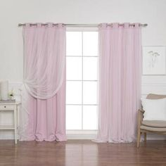 Rosdorf Park Brockham Solid Blackout Thermal Grommet Curtain Panels Size per Panel: W x L, Curtain Color: Peachy Pink Sheer Curtain Panels, Rod Pocket Curtains, Grommet Curtains, Window Panels, Blackout Curtains, Drapes Curtains, Blush Curtains, Green Curtains, Bedroom Curtains