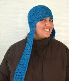 Unconventional Crochet Aviator Hat | AllFreeCrochet.com