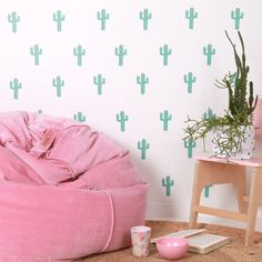 Cactus - Fabric Wall Stickers - Love Mae