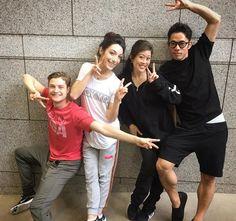 Charlie, Meryl, Kristi Yamaguchi, and Daisuke Takahashi rehearse Love on the Floor in Japan, June 2016