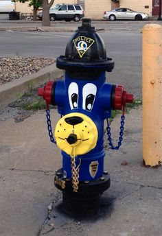 Police Dog fire hydrant on the corner of 2nd and Main St. This K9 is watch over City Hall, while keeping an eye on the Public Safety Building down the street.