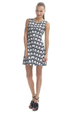 714ca808ecd9 Rachel Roy Black Diamond Print Tulip Dress Roy Black, Tulip Dress, Rachel  Roy,