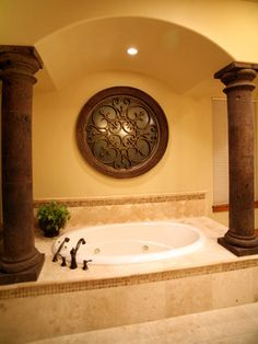 Master Bath Tub - mediterranean - bathroom - austin - Asomoza Homes - Design Build