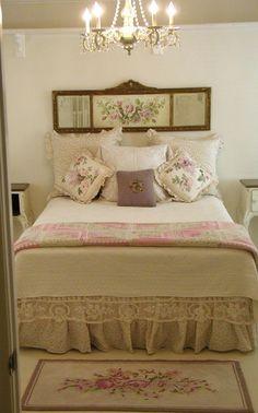Ideas Bedroom Vintage Romantic Shabby Cottage For 2019 Pretty Bedroom, Shabby Chic Bedrooms, Shabby Chic Cottage, Bedroom Vintage, Shabby Chic Homes, Shabby Chic Furniture, Shabby Chic Decor, Cottage Style, Bedroom Romantic